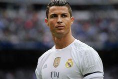 Cristiano Ronaldo met een strijdlustige blik