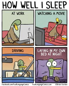 This is so totally me!...  Well I could never fall asleep at work but I wish I could! ;)