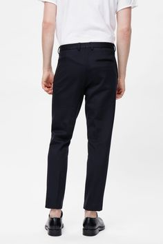 COS Classic slim jersey trousers single back pocket Wide Leg Trousers 797eb395668