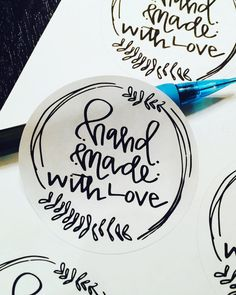 Handmade with Love  Package Stickers for by NeesesCreations