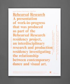 (via Rehearsal Research Poster and Program — Post Projects)