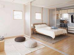 Japanese interior design with MUJI Japanese Home Design, Japanese Home Decor, Japanese Interior, Japanese Style, Apartment Interior, Room Interior, Home Interior Design, Exterior Design, Minimalist Bedroom