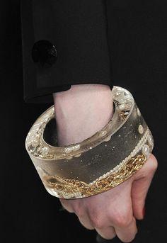 jewlry cast resin bracelet    http://pinterest.com/charsky/thought-provoking-jewellery/