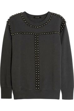 We love the sweatshirt trend happening right now! Charcoal studded sweatshirt by Isabel Marant