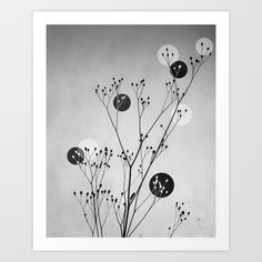 Abstract Flowers 3 Art Print by Mareike Böhmer Graphics - $20.00