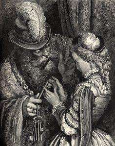 魔法の鍵を渡す青ひげ Barbebleue - ギュスターヴ・ドレ - Wikipedia