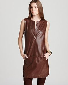 Vince Leather Dress - Shirttail - Contemporary - Bloomingdale's