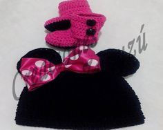 Set gorro y botas Minnie