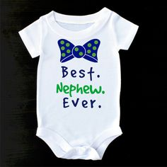 Best Nephew Ever Baby Onesie Cute Baby Outfit Gift by PrintaColada