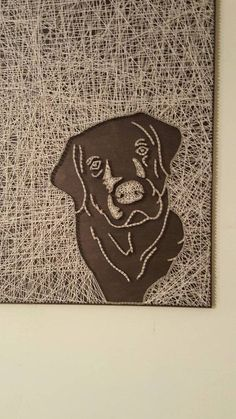 Check out this item in my Etsy shop https://www.etsy.com/listing/455263614/lab-face-string-art #artprojects