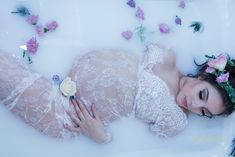 Maternity photoshoot milk bath Lorinda K Photography wedding engagement photographer Monterey