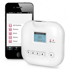 The Smartphone Light And Appliance Controller - This is the system that enables remote control of lights and appliances while you are away from home using a smartphone connected to the Internet.