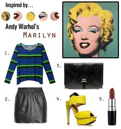 Inspired by Marilyn by Andy Warhol