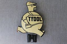 Vintage Tydol Oil Fat Man Tin License Plate by tippleandsnack