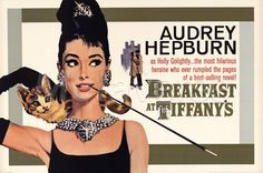 Audrey Hepburn posters:Cinema style Audrey Hepburn Breakfast at tiffany's poster featuring an iconic image of Audrey Hepburn as Holly Golightly in the 1961 film comedy. In this poster Audrey Hepburn is in a black dress. Audrey Hepburn Poster, Audrey Hepburn Breakfast At Tiffanys, Breakfast At Tiffany's Poster, Breakfast At Tiffany's Movie, Vintage Hair Pieces, Old Hollywood Actresses, Holly Golightly, Romantic Films, Glamour