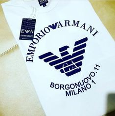Armani Jeans, Hang Tags, T Shirts For Women, Embroidery, Nike, Men Clothes, Gifs, Stuff Stuff, Tags