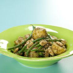 Salat med kartofler og to slags bønner
