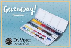 Ends 7/27! $250 Value. Da Vinci Paint Co. World Watercolor Month Weekly Giveaway 3