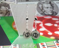 Poker Chip Earrings by joolrylane on Etsy