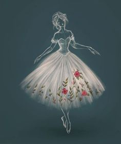 c5f3408ef Ballerina Tattoo, Ballerina Dress, Drawing Now, Painting & Drawing, Dance  Art,