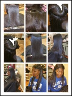 Clip-in extensions by Terrie Bosslady Branch! Perfect Styles Beauty and Barber Salon Newport news va!  Www.styleseat.com/TerrieBranch