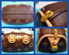 step by step cake Louis Vuitton bag