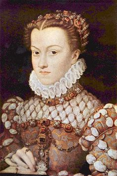 Elisabeth of Austria, Queen of France, daughter of Holy Roman Emperor Maximilian II. of Austria and Infanta Maria of Spain, wife of King Charles Charles IX. of France, circa 1571