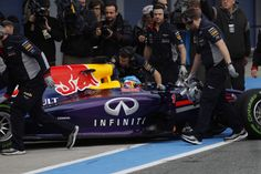 The new Infiniti Red Bull Racing RB10 race car reveal in Jerez, Spain.