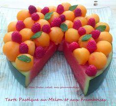 """""""gâteau"""" de pastèque/melon"""