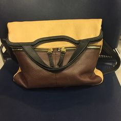 Fossil Purse Black, brown, and tan Fossil Bags Crossbody Bags