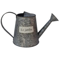 White x White Le Jardin Watering Can II (39 CAD) ❤ liked on Polyvore featuring home, outdoors, garden tools, garden, fillers, decor and items
