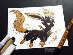Gilded Leafeon by Viri's Art on tumblr