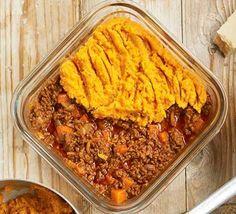 A casserole dish serving sweet potato-topped cottage pie Sweet Potato Benefits, Bbc Good Food Show, Cauliflower Potatoes, Potato Toppings, Potato Pie, Potato Skins, Vegetarian Bake, Bbc Good Food Recipes, Delicious Recipes