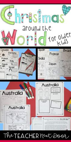 This Christmas Around the World for Older Kids (3rd - 6th grades) unit is a great way to integrate reading strategies and social studies concepts, while learning about something fun and thematic during the month of December. Your students will stay engaged with passages, maps, flags, and scrapbook pages for each of 14 countries.