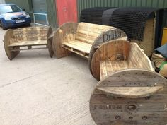 Pallet And Cable Drum Benches Benches & Chairs