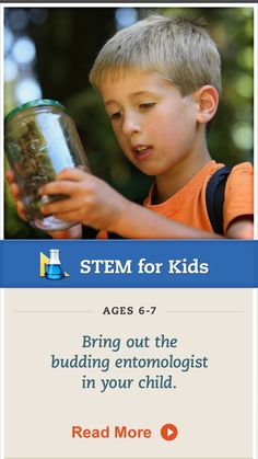 Take your child on a bug-hunting adventure! Click for details. #STEM