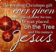 Christmas isn't about how many gifts you get, but the one gift that was given