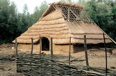 Reconstruction of one of the houses of the Gallic oppidum of Villeneuve-Saint-Germain of about 60 BCE., near Soissons, where is a commune in the Aisne department in Picardy in northern France. Saint Germain, Gaul Warrior, Fort Mahon Plage, Viking Decor, Saint Valery, Alexandre Le Grand, Beauvais, Celtic Culture, Medieval Houses