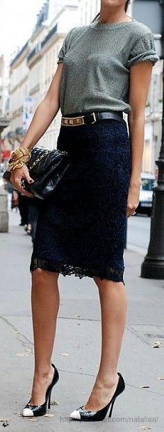 20 Style Tips On How To Wear A Lace Skirt This Summer More