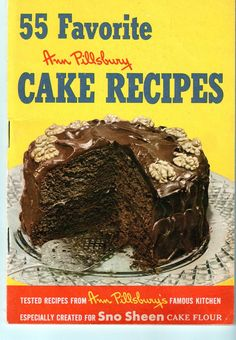 First Edition Pillsbury Cake Recipes 55 Favorite  1952 Cookbook Vintage.