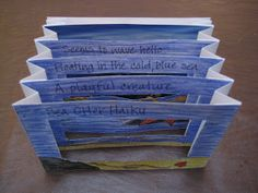 Tunnel books are fun and unique! We made ours using a post card for a prompt and wrote a haiku to go with it. I've made these with grade...