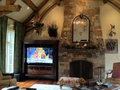 """Game Room 70"""" Display and 5.1 Surround Sound."""