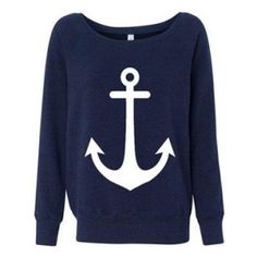 anchor sweatshirt . :D by Zee . :D