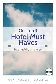 Stay healthy and fit from the comfort of your hotel room with these top 3 travel essentials! Maintain your healthy lifestyle on the go. Healthy Tips, How To Stay Healthy, Travel Essentials, Travel Tips, Packing Tips, Macros, All Over The World, Fitness Tips, Must Haves