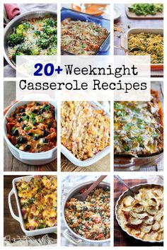 Over 20 weeknight casserole recipes to feed your hungry family. Which one will you make tonight? @ohsweetbasil #HyVeePinToWin