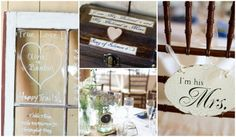 Rustic details for table numbers & decor.