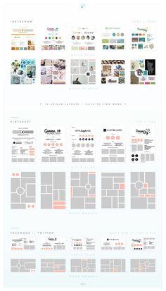 Mood Board / Style Tile Pack by AM Studio on market Ecommerce Webdesign, Webdesign Layouts, Design Websites, Web Design, Layout Design, Corporate Design, Mise En Page Portfolio, Mise En Page Magazine, Creativity Online
