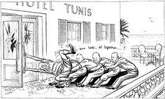 Caricature de Leslie Illingworth paru dans le Daily Mail le 24 mars 1943