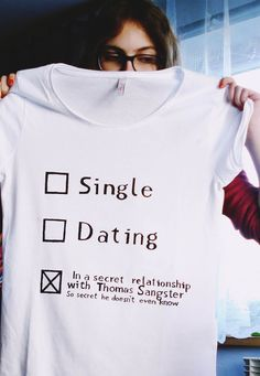 shirt, diy, single, dating, thomas brodie sangster, funny