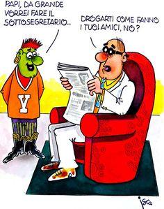 ITALIAN COMICS - Incomunicabilità tra generazioni… #IoSeguoItalianComics #Satira #Politica #Comics #Humor #Italy #Generation #ottimismo